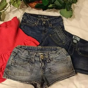 shorts top 4 pc bundle Hollister Aero So